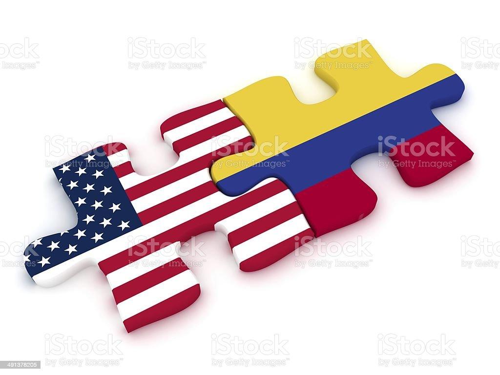 USA Colombia Puzzle - foto de stock