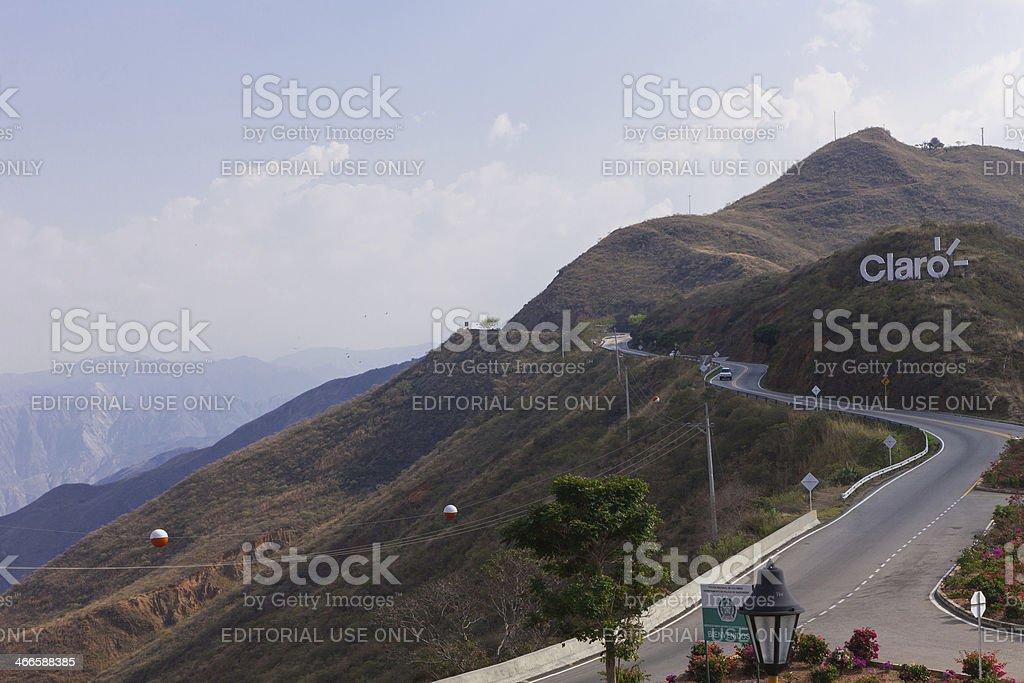 Colombia - Road Bucaramanga to San Gil in Santander royalty-free stock photo