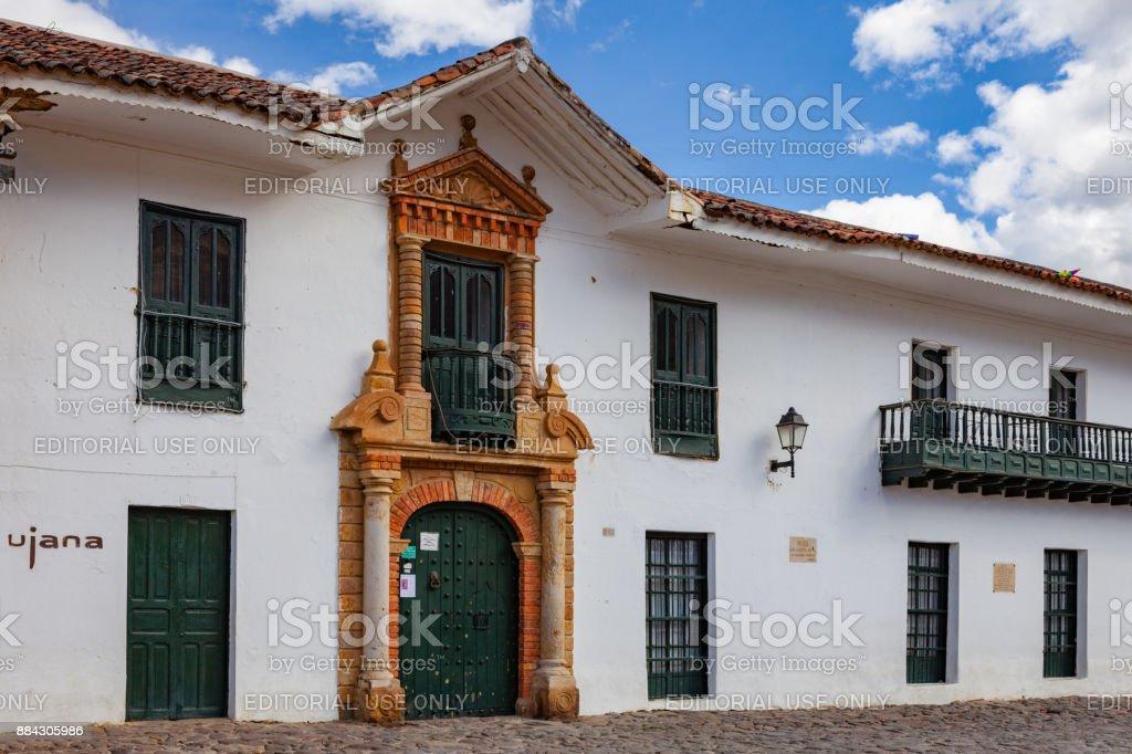 Villa de Leyva, Colombia - September 14, 2014: Detail of colonial...