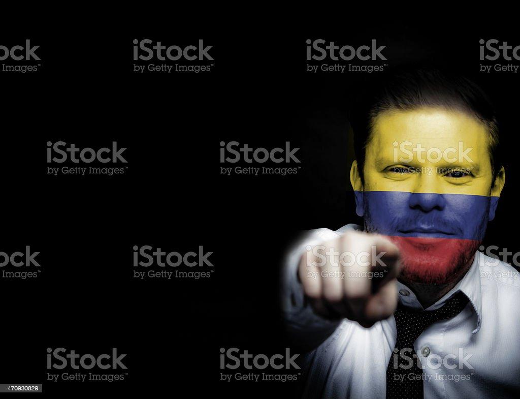 Colombia Sport Soccer Fan royalty-free stock photo