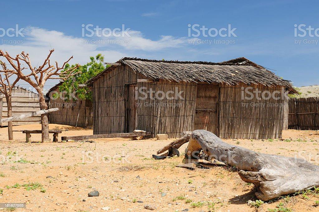 Colombia, Traditional fishing cottage in La Guajira stock photo
