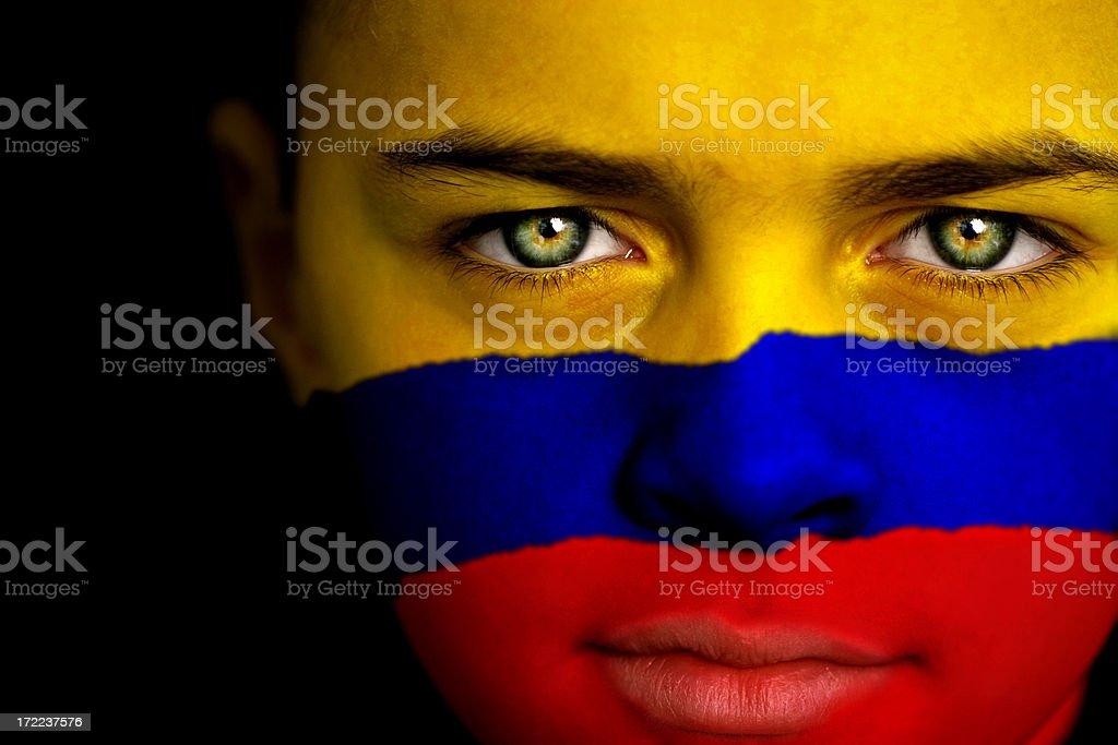 Niño colombiano - foto de stock