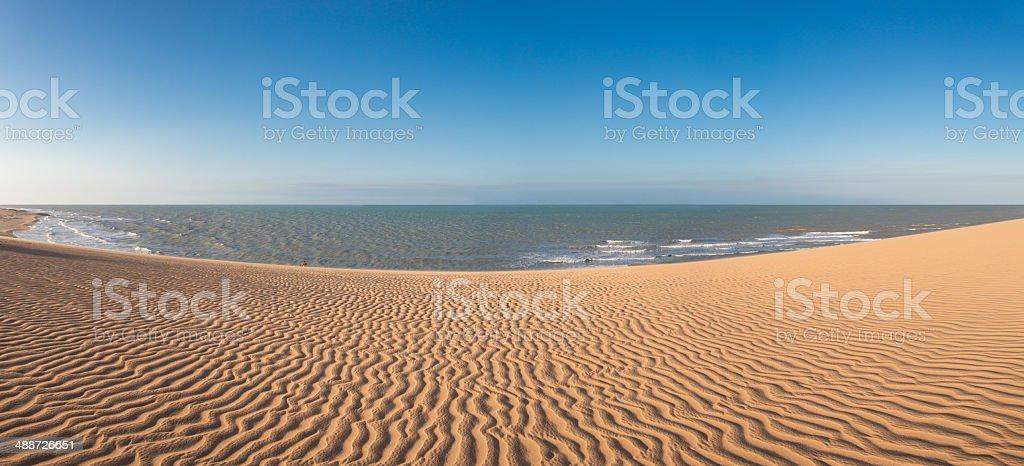 Colombian coastline in La Guajira stock photo