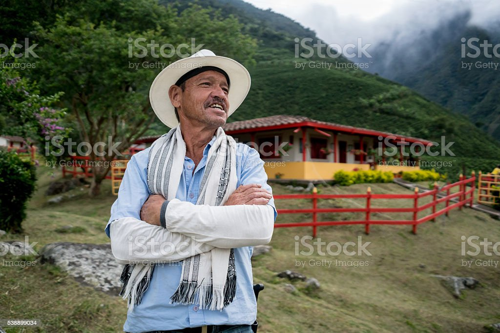 Colombian farmer stock photo