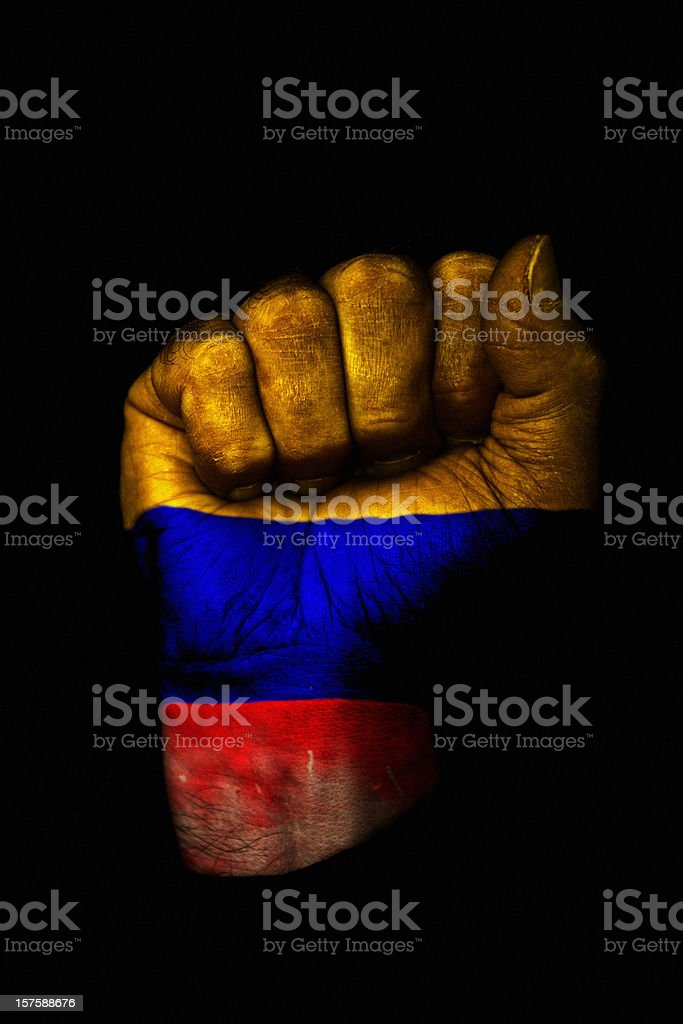 Colombian Fist royalty-free stock photo