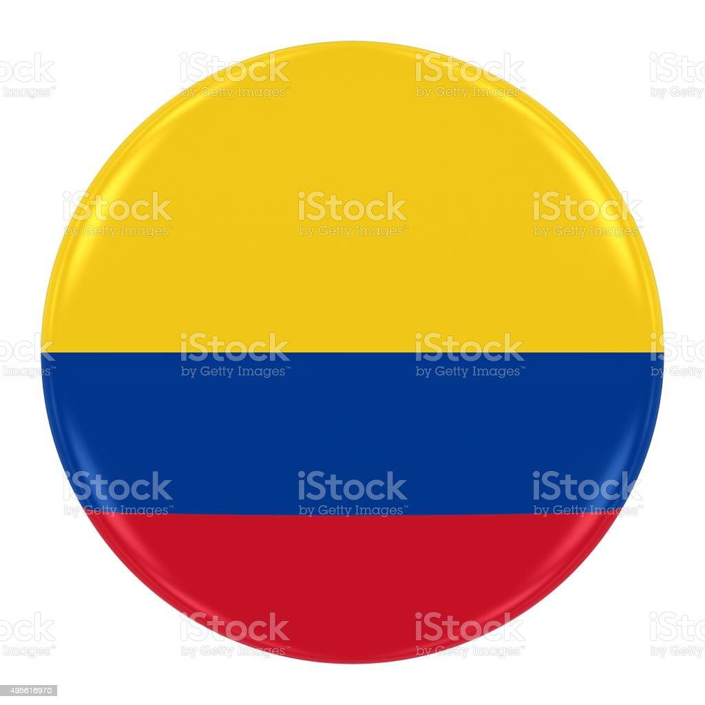 Colombian Flag Badge stock photo