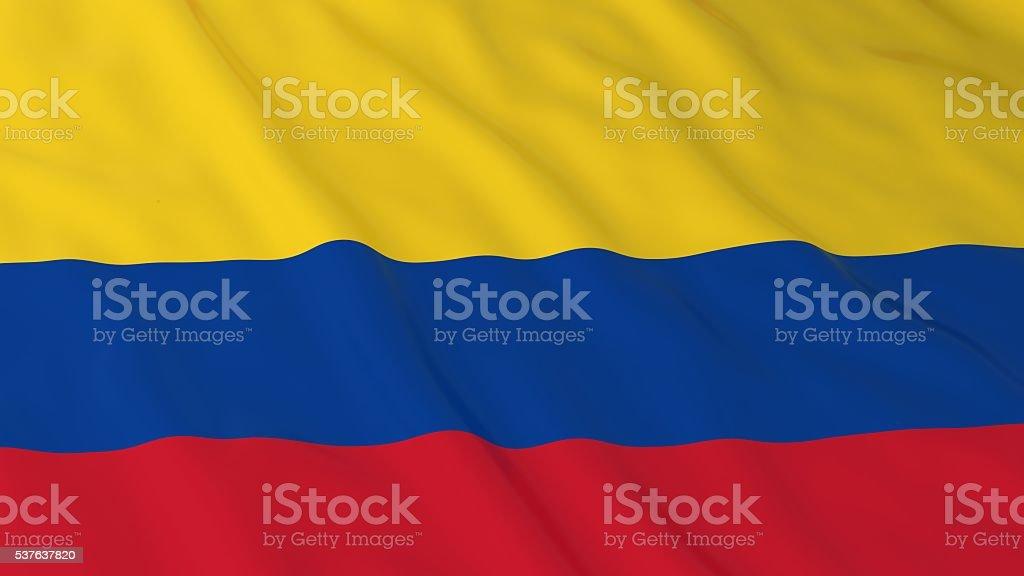 Bandera colombiana Fondo en HD-ilustración 3D de bandera de Colombia - foto de stock