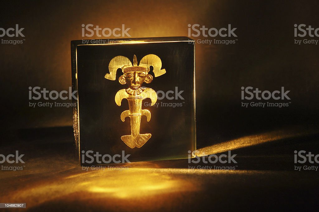Colombian gold stock photo