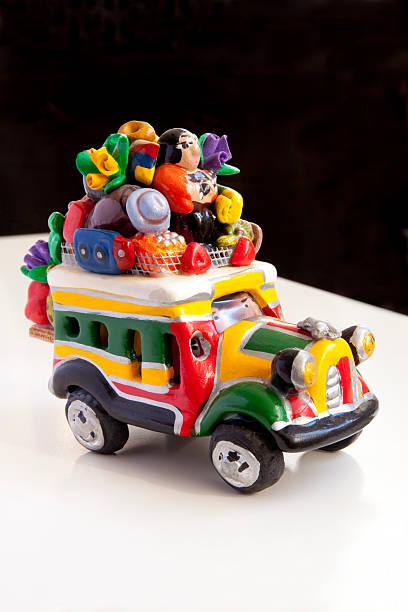 Colombian handicrafts bus stock photo