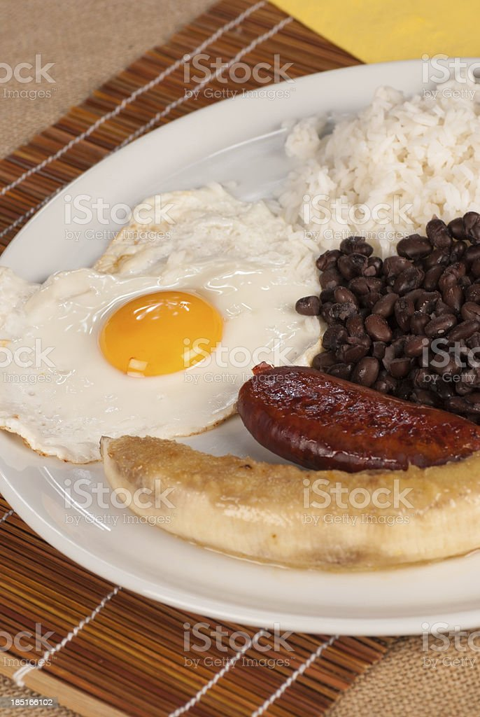 Colombian lunch royalty-free stock photo