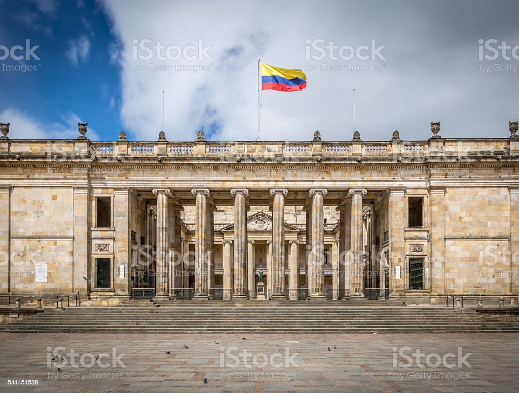 Colombian National Congress and Capitol stock photo
