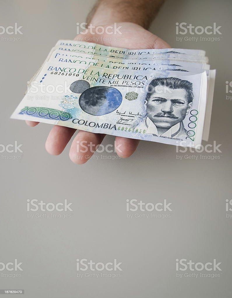 Colombian Peso stock photo
