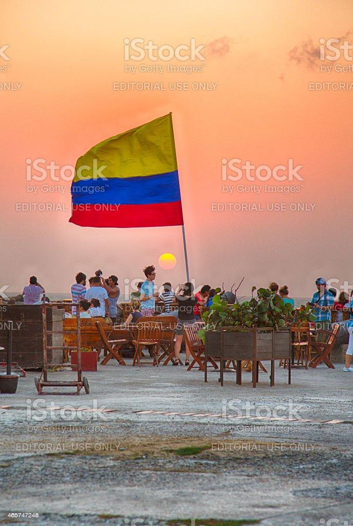 Colombian Sunset stock photo