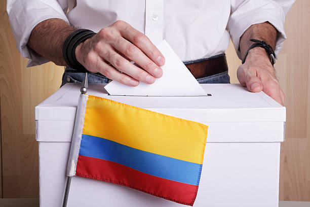 Colombians to vote stock photo
