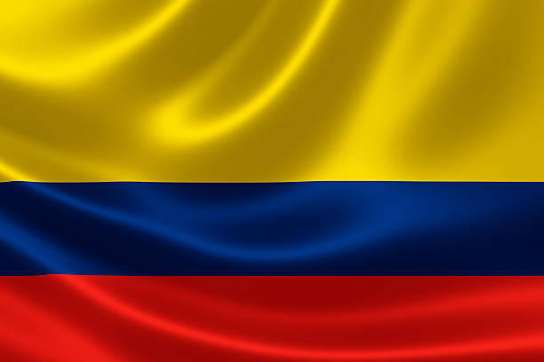 Colombia's Flag stock photo