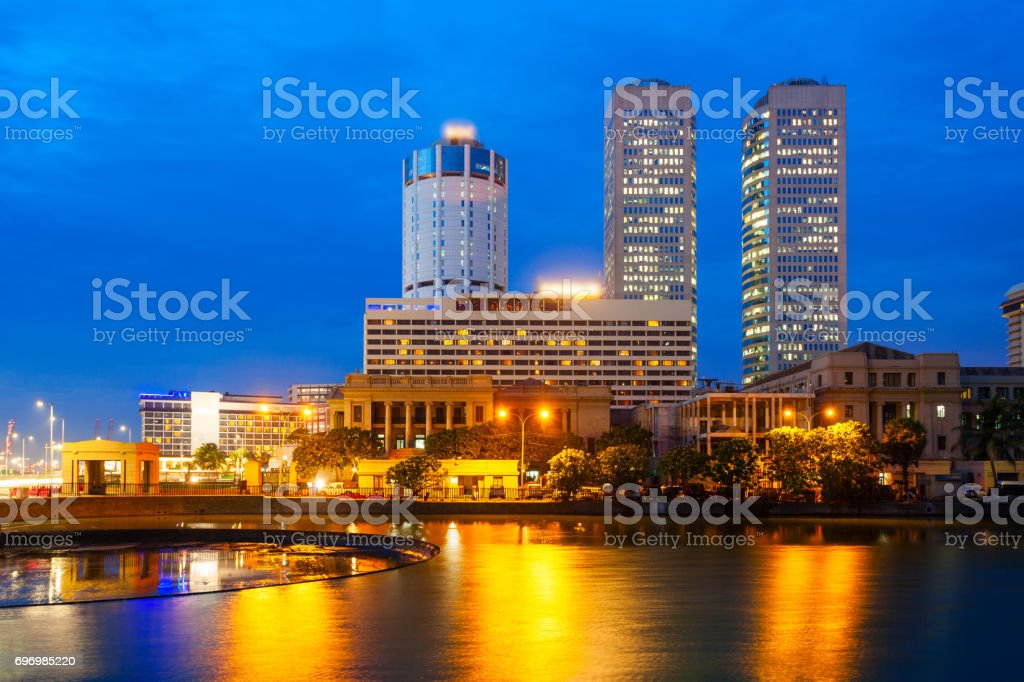 Colombo city skyline view stock photo