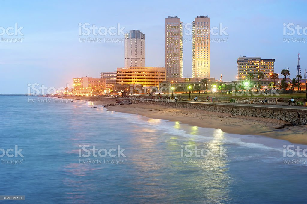Colombo downtown stock photo