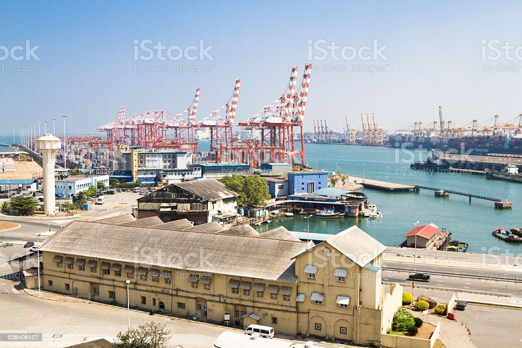 Colombo harbor, Sri Lanka stock photo