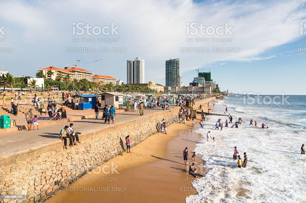 Colombo seafront promenade stock photo