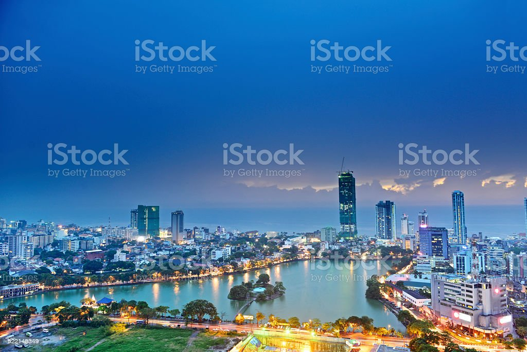 Colombo skyline royalty-free stock photo