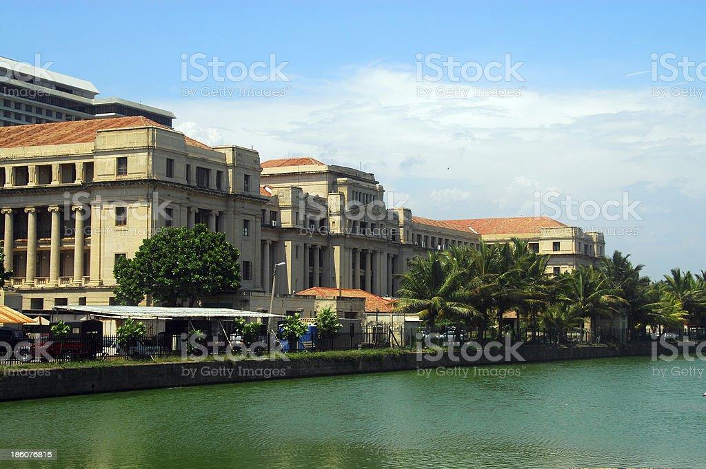 Colombo, Sri Lanka: Colonial secretariat building stock photo
