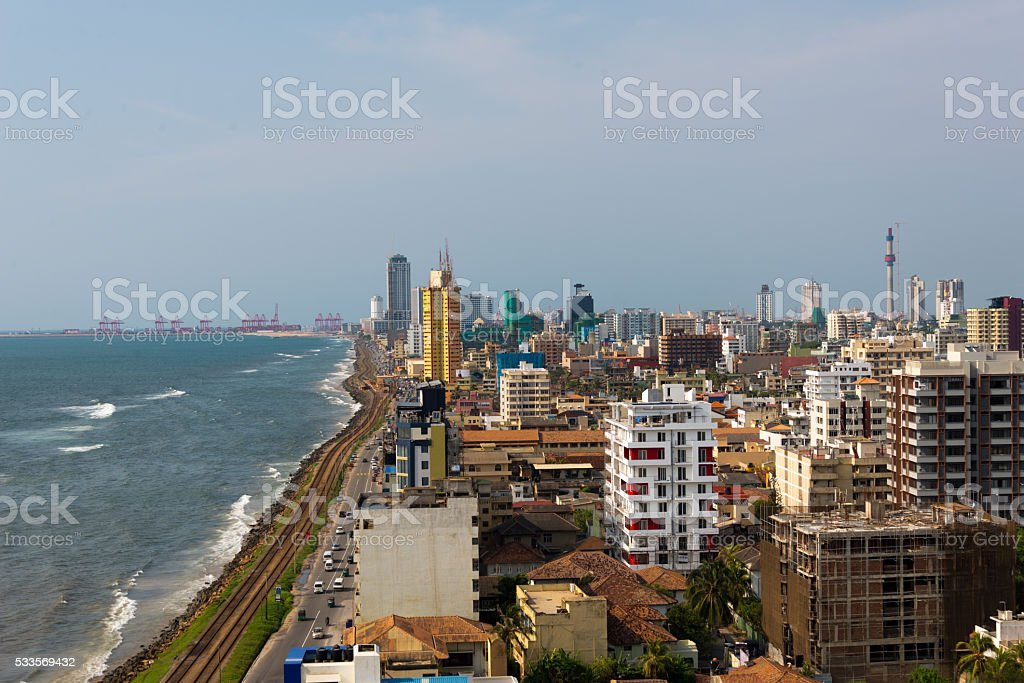 colombo waterfront stock photo