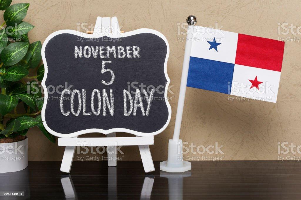 Colon Day in Panama stock photo