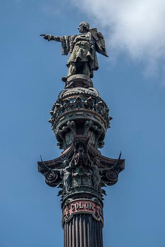 Colon Statue in Barcelona Spain Columbus