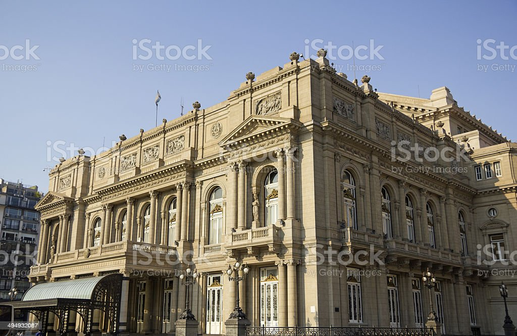 Colon Theatre, Buenos Aires, Argentina. stock photo