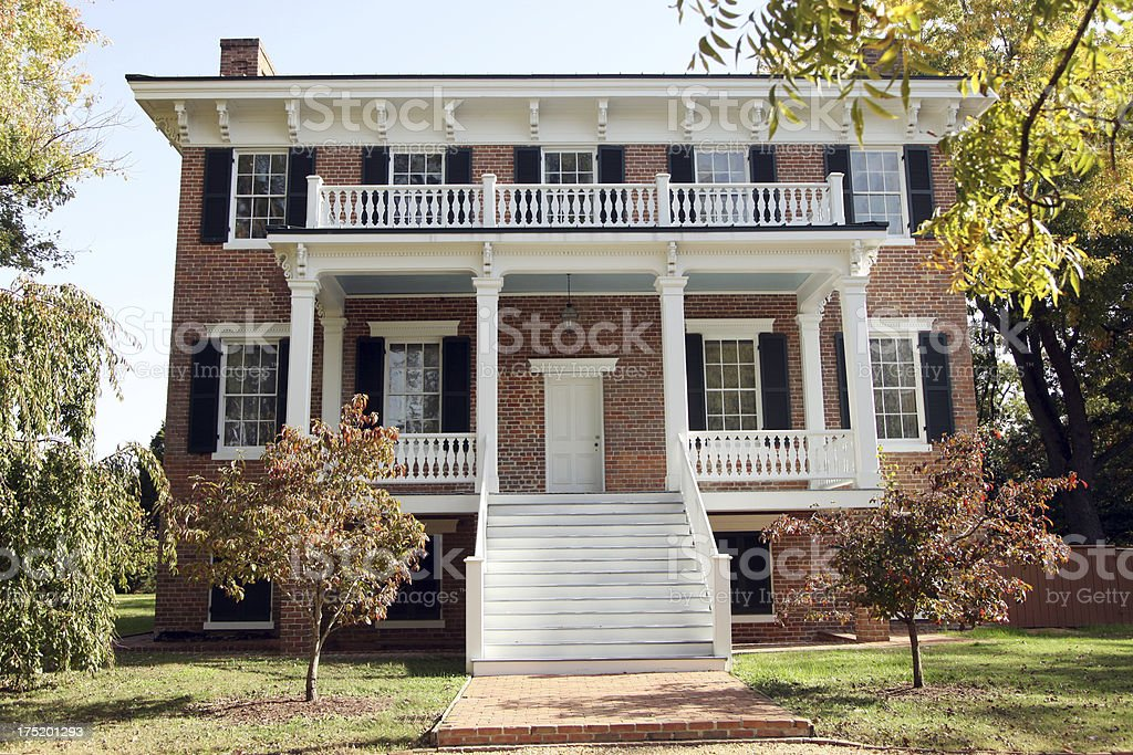 Colonial and Greek Revival Style Home stock photo