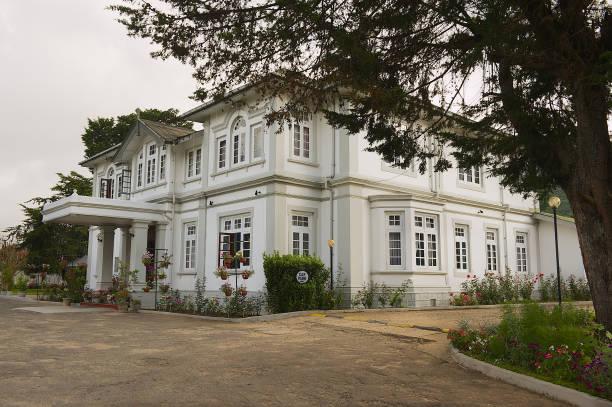 Colonial architecture building in Nuwara Eliya, Sri Lanka. stock photo