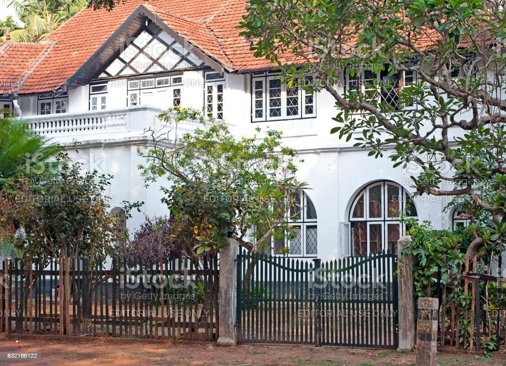 Colonial architecture, Cochin, Southern India stock photo