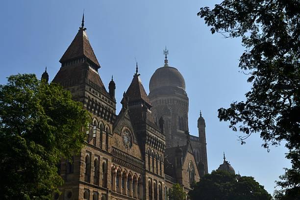 Colonial architecture Elphinstone College, Mumbai, India stock photo