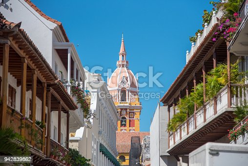 1148861090istockphoto Colonial architecture in the streets of Cartagena. Colombia 942839862