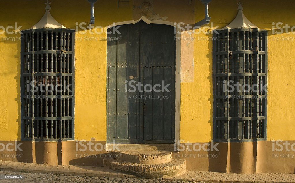 Colonial architecture in Trinidad Cuba royalty-free stock photo
