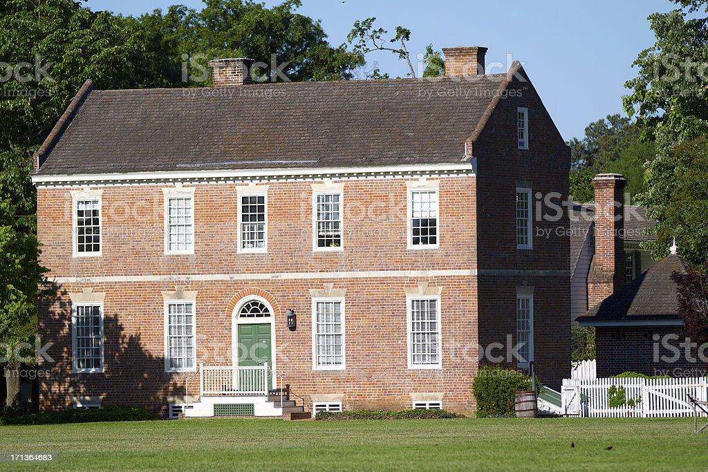 colonial architecture in Williamsburg, Va stock photo