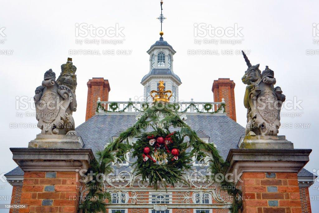 Colonial architecture in Williamsburg, Virginia stock photo