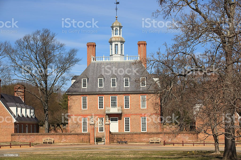 Royal Governor\'s Palace in Colonial Williamsburg, Va.