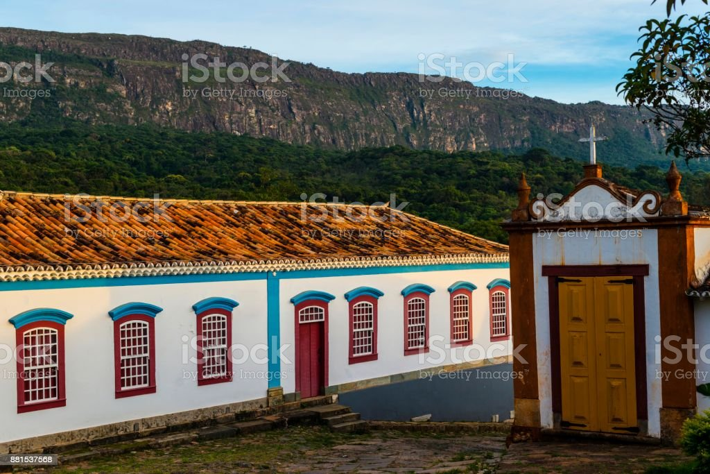 Historic city of Tiradentes in Minas Gerais with the colonial...