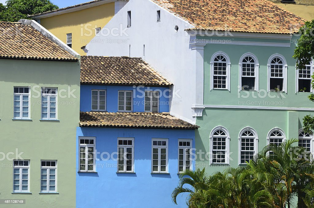 colonial architecture in the old historic centre - Pelourinho - photo...