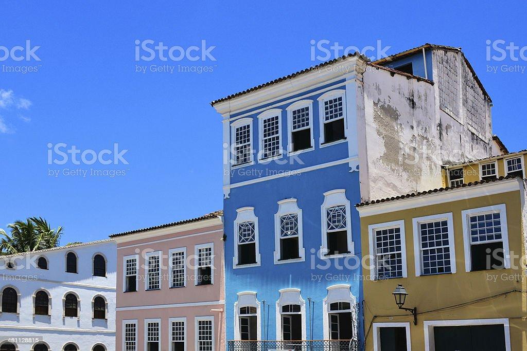 colonial architecture in the old historic centre - Pelourinho square...