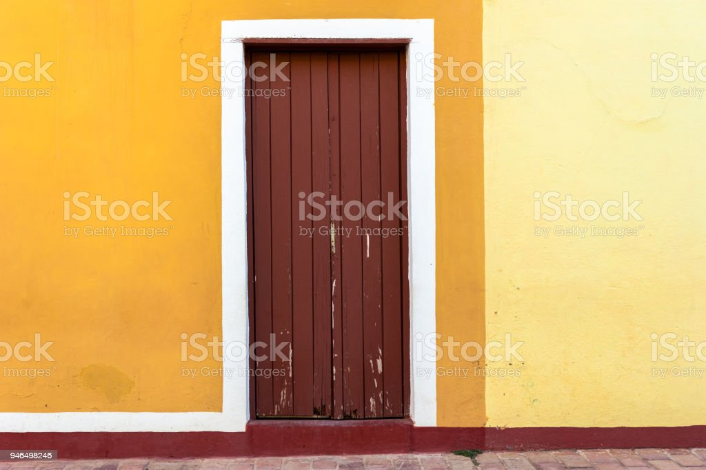Colorful traditional architecture. colonial stile
