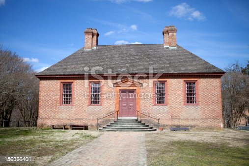 istock Colonial architecure in Williamsburg, Va 156366401