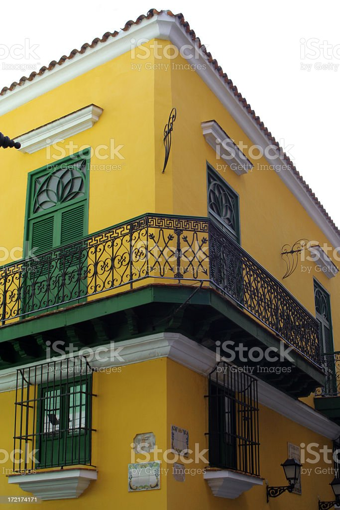 Colonial Balconies stock photo