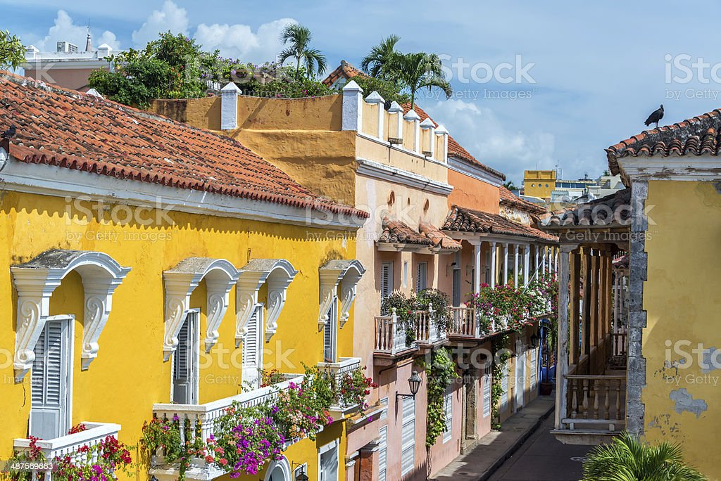 Colonial Balconies stock photo