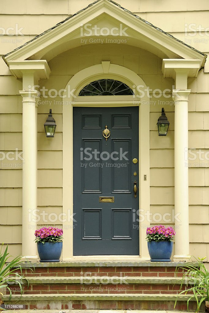 Colonial Blue Door royalty-free stock photo
