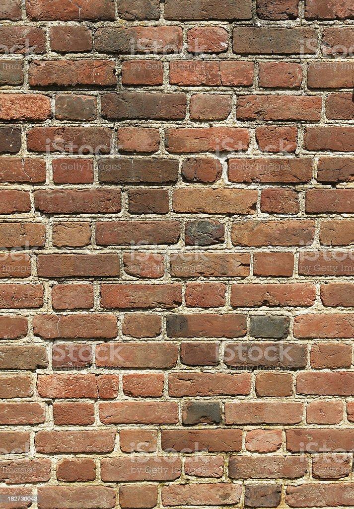 Colonial Brick Wall royalty-free stock photo
