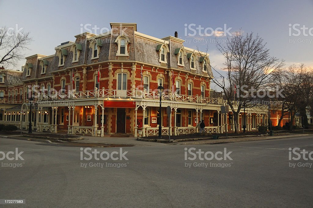 Colonial building in Niagara on the Lake stock photo