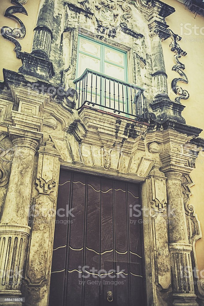 Colonial Building in old Havana stock photo