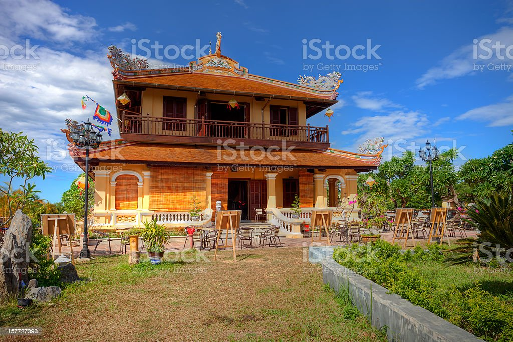 Colonial Building in the Imperial City (Citadel), Hue, Vietnam stock photo